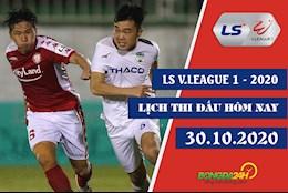 Lich thi dau bong da Viet Nam V.League 2020 hom nay 30/10