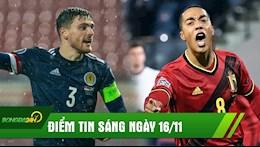 ĐIỂM TIN SÁNG 16/11: Liverpool lại nhận tin xấu về trụ cột; Thua trắng Bỉ, Anh chia tay Nations League