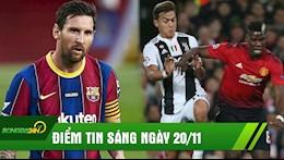 DIEM TIN SANG 20/11: Juve dong y doi sao voi MU; Messi dinh rac roi, Man City thua nuoc duc tha cau