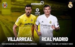 Nhan dinh bong da Villarreal vs Real Madrid 22h15 ngay 21/11 (La Liga 2020/21)