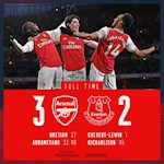 Link xem video Arsenal vs Everton 3-2: Ruot duoi hap dan