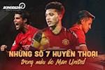 Nhung so 7 huyen thoai trong mau ao Man United: Sancho dinh hoc Ronaldo hay Sanchez?