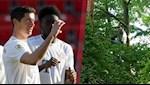 Không được vào sân, CĐV Bayern trèo cây xem trộm