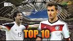 VIDEO: Top 10 cau thu ghi ban nhieu nhat cho DT Duc: Vinh danh cay san ban vi dai World Cup