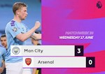 Link xem video bong da Man City vs Arsenal 3-0: Thang de