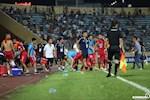 Cầu thủ Nam Định bức xúc khi Hải Phòng ghi bàn thắng