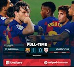 Link xem video bong da Barca vs Bilbao 1-0: Lay lai ngoi dau