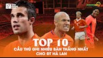 VIDEO: Top 10 cau thu ghi nhieu ban thang nhat cho DT Ha Lan