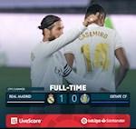 Link xem video bong da Real Madrid vs Getafe 1-0 dem qua: Vung vang ngoi dau