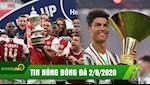 TIN NONG BONG DA 2/8: Arsenal nguoc dong Chelsea vo dich FA Cup; CR7 mat Chiec giay vang Chau Au