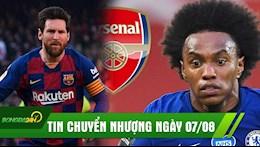 TIN CHUYEN NHUONG 7/8: Messi tuyen bo giai nghe o Barca, Willian chinh thuc toi Arsenal?