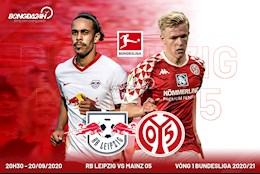 Nhan dinh bong da Leipzig vs Mainz 20h30 ngay 20/9 (Bundesliga 2020/21)