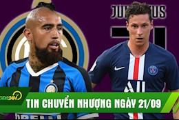 TIN CHUYEN NHUONG 21/9: Inter hoan tat thuong vu Vidal; Juve bat ngo muon co Draxler