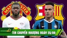 TIN CHUYEN NHUONG 26/9: Hon DA TANG bat den xanh cho MU; Gat bo Suarez, Barca vung tien mua Lautaro Martinez