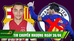 TIN CHUYEN NHUONG 28/9: Barca co hau ve tre gay SOT Chau Au; Messi gia han 2 nam voi Barca, Man City het cua