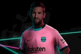 Barca khoe áo mới: Messi cười cho có