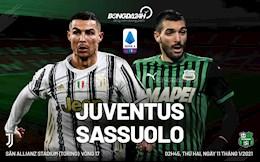 Nhan dinh bong da Juventus vs Sassuolo 2h45 ngay 11/1 (Serie A 2020/21)