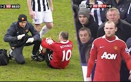 VIDEO: Khong the nao quen khoanh khac Wayne Rooney thi dau bat chap chan thuong