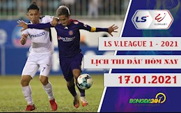 Lich thi dau, lich truc tiep V.League hom nay 17/1: HAGL lam khach Sai Gon