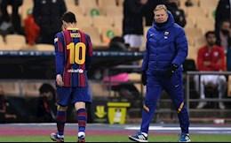 Nhận thẻ đỏ vì đánh nguội, Messi vẫn được HLV Koeman bênh chằm chặp