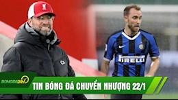 TIN BONG DA CHUYEN NHUONG 22/1: Liverpool thua dau Burnley; Man Utd dam phan hop dong chieu mo Christian Eriksen