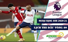 Lich thi dau vong 20 Ngoai hang Anh 2020/21: Tottenham dau Liverpool