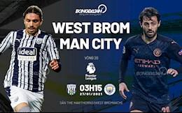 """""""Không thương West Brom"""", Man City thắng đậm 5 sao để vươn lên ngôi đầu"""