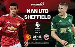 Trực tiếp bóng đá MU vs Sheffield 3h15 ngày 28/1