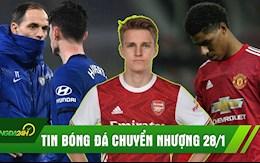 TIN BÓNG ĐÁ CHUYỂN NHƯỢNG 28/1: Odegaard đến Arsenal; MU thua sốc; Tuchel và Chelsea hòa trận đầu