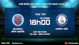 Trực tiếp bóng đá Bình Dương vs Khánh Hòa Thiên Long Cup 2021