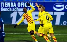 Video bóng đá Huesca vs Barca: Thắng tối thiểu