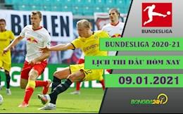 Lich thi dau va truc tiep Bundesliga 2020-21 hom nay 9/1: Leipzig doi dau Dortmund