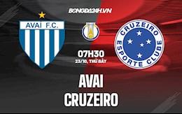 Nhận định, dự đoán Avai vs Cruzeiro 7h30 ngày 23/10 (Hạng 2 Brazil 2021)