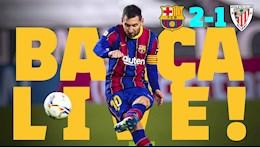 Video bong da Barca vs Bilbao: Messi sut phat dang cap