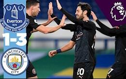 Everton 1-3 Man City: Màu xanh phủ bóng cuộc đua vô địch