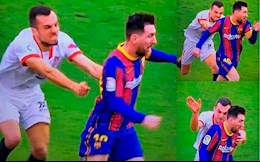 Messi tai hien hinh anh Pique vo hut Mbappe truoc Sevilla