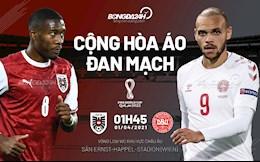 Nhận định bóng đá Áo vs Đan Mạch 1h45 ngày 1/4 (Vòng loại World Cup 2022)