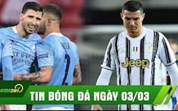 TIN BÓNG ĐÁ 3/3: Man City thắng trận thứ 21 liên tiếp; Ronaldo cân nhắc rời Juventus?