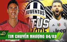TIN CHUYỂN NHƯỢNG 04/03:  Man Utd rộng cửa mua Varane; Juventus đàm phán mua Aguero