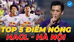 VIDEO: Nhung diem nong tren san cua tran cau tam diem HAGL vs Ha Noi