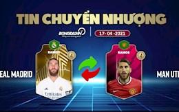 TIN NONG CHUYEN NHUONG 17/4: Arsenal het cua co Odegaard; Ramos chia tay Real Madrid, gia nhap MU?