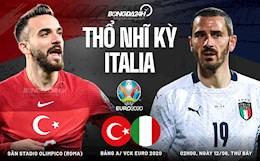 Nhận định Thổ Nhĩ Kỳ vs Italia (02h00 ngày 12/6):  Khai hội ở Roma