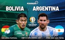 Nhận định, soi kèo Bolivia vs Argentina 7h00 ngày 29/6 (Copa America 2021)