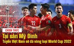 Nóng: ĐT Việt Nam được đá trên SVĐ Mỹ Đình tại vòng loại 3 World Cup 2022