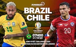 Nhận định Brazil vs Chile (7h ngày 3/7): Khó có bất ngờ