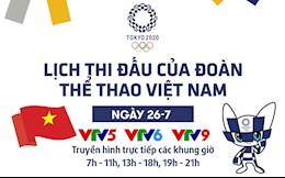 Lịch thi đấu ngày 26/7 của Đoàn thể thao Việt Nam tại Olympic 2020: Ánh Viên thi đấu