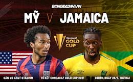 Video bóng đá Mỹ vs Jamaica tứ kết Gold Cup 26/7/2021