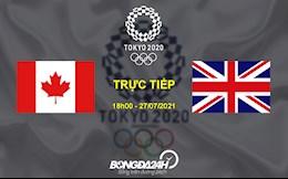 Trực tiếp link xem Canada vs Anh 18h00 ngày 27/7 (BD nữ Olympic 2020)
