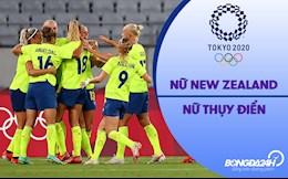 Video nữ New Zealand vs nữ Thụy Điển (Vòng bảng Bóng đá nữ Olympic 2020)