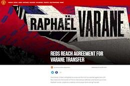 CHÍNH THỨC: MU đã mua thành công trung vệ Varane từ Real Madrid